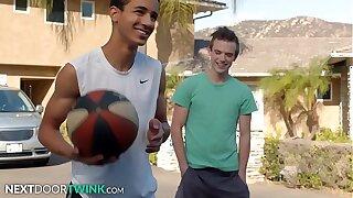 NextDoorTwink - Scott Finn Helps Young Dark-skinned Teen With His Form