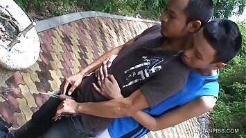 Asian Twinks Jacop and Oliver Piss and Fuck