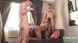 TRAILERTRASHBOYS Michael Del Ray Fucks Remy Cruze In 3some