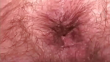 Lean hairy Daddy shows his supplicant opening close-RoughHairy.com