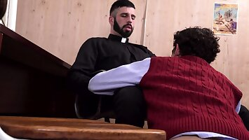 YesFather - Hung Priest Dominates A Boy In Church